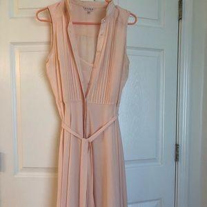Nanette Lepore sleeveless pintuck blush dress